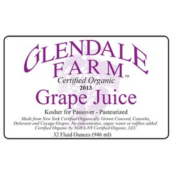 Grape Juice, Glendale Farms Organic