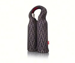 Black & Grey Double Bottle Neoprene Wine Tote
