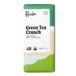 Raaka Green Tea Crunch Chocolate Bar