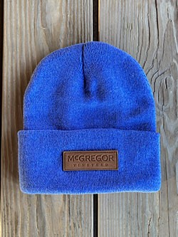 McGregor Leather Patch Beanie - Blue