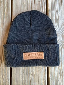 McGregor Leather Patch Beanie - Dark Grey