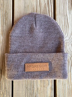 McGregor Leather Patch Beanie - Brown