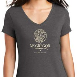 Women's V-neck Tee, Charcoal