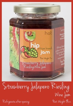 Hip Strawberry Mild Jalapeno Riesling Wine Jam