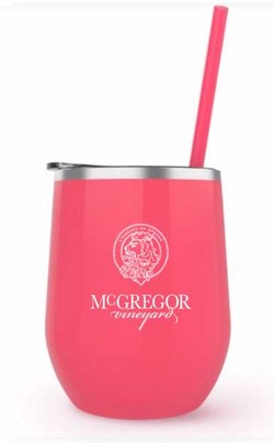 McGregor Insulated Wine Cup Coral