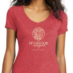 Women's V-neck Tee, Red