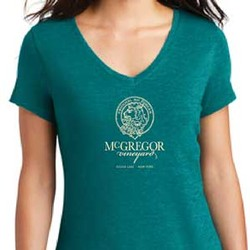 Women's V-neck Tee, Teal