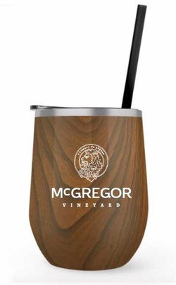McGregor Insulated Wine Cup Woodgrain