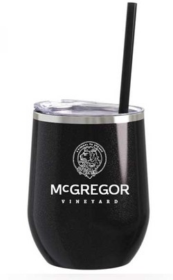 McGregor Insulated Wine Cup Glitter Black